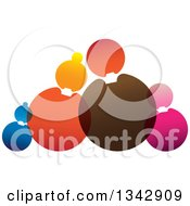Clipart Of A Family Made Of Colorful Circles Royalty Free Vector Illustration