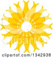 Clipart Of A Circle Of Yellow Fish Royalty Free Vector Illustration
