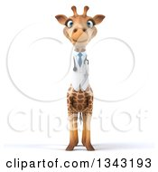 Clipart Of A 3d Doctor Or Veterinary Giraffe Royalty Free Illustration by Julos