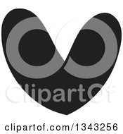 Clipart Of A Solid Black Heart 4 Royalty Free Vector Illustration