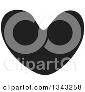 Clipart Of A Solid Black Heart 6 Royalty Free Vector Illustration