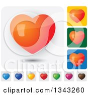 Clipart Of Colorful Heart App Icon Button Design Elements Royalty Free Vector Illustration