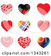 Clipart Of Heart App Icon Design Elements Royalty Free Vector Illustration