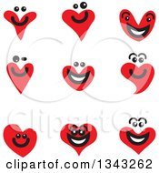 Clipart Of Red Heart Face App Icon Design Elements Royalty Free Vector Illustration by ColorMagic