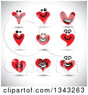 Clipart Of Red Heart Face App Icon Design Elements Over Shading Royalty Free Vector Illustration by ColorMagic