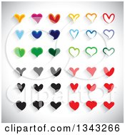 Clipart Of Colorful Heart App Icon Design Elements Over Shading 2 Royalty Free Vector Illustration