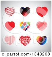 Clipart Of Heart App Icon Design Elements Over Shading Royalty Free Vector Illustration