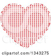 Clipart Of A Red Heart Made Of Tiles Royalty Free Vector Illustration