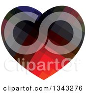 Clipart Of A Colorful Heart Royalty Free Vector Illustration by ColorMagic