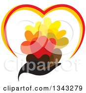 Clipart Of A Black Feminine Hand Holding Hearts Royalty Free Vector Illustration