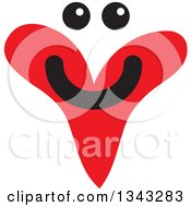 Clipart Of A Red Heart Character Smiling Royalty Free Vector Illustration