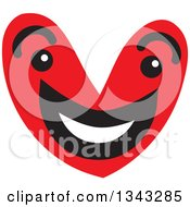 Clipart Of A Red Heart Character Smiling 3 Royalty Free Vector Illustration by ColorMagic