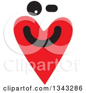 Clipart Of A Red Heart Character Smiling 4 Royalty Free Vector Illustration
