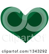 Clipart Of A Two Toned Green Heart 3 Royalty Free Vector Illustration