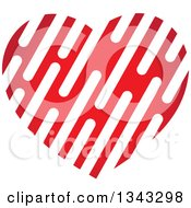 Clipart Of A Gradient Slotted Red Heart Royalty Free Vector Illustration
