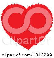 Clipart Of A Pixelated Red Heart Royalty Free Vector Illustration by ColorMagic