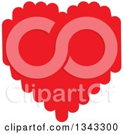 Clipart Of A Messy Red Heart Royalty Free Vector Illustration