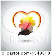 Clipart Of A Black Feminine Hand Holding Hearts Over Shading Royalty Free Vector Illustration