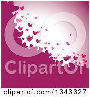 Clipart Of A Background Of Floating Hearts In Pink And Purple Tones Royalty Free Vector Illustration