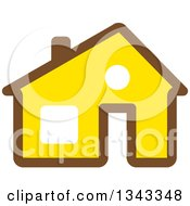 Clipart Of A Brown And Yellow House Royalty Free Vector Illustration by ColorMagic