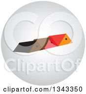 Clipart Of A Shaded Round App Icon Button Design Element With Houses 3 Royalty Free Vector Illustration by ColorMagic