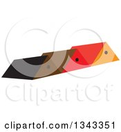Clipart Of Roof Tops Royalty Free Vector Illustration