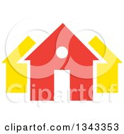 Clipart Of A Neighborhood Of Houses 6 Royalty Free Vector Illustration