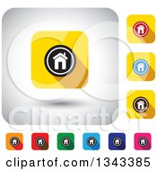 Clipart Of Rounded Corner Square Home App Icon Design Elements Royalty Free Vector Illustration