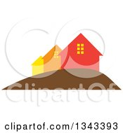 Clipart Of A Neighborhood Of Houses 5 Royalty Free Vector Illustration