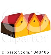 Clipart Of A Neighborhood Of Houses Royalty Free Vector Illustration