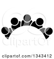 Clipart Of A Teamwork Unity Group Arch Of Black People Royalty Free Vector Illustration