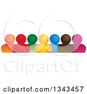 Clipart Of A Teamwork Unity Group Of Colorful People 2 Royalty Free Vector Illustration