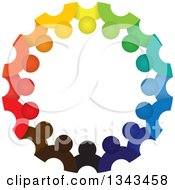 Clipart Of A Teamwork Unity Circle Of Colorful People 41 Royalty Free Vector Illustration