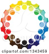 Clipart Of A Teamwork Unity Circle Of Colorful People 42 Royalty Free Vector Illustration