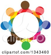 Clipart Of A Teamwork Unity Circle Of Colorful People 43 Royalty Free Vector Illustration