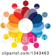 Clipart Of A Teamwork Unity Circle Of Colorful People 46 Royalty Free Vector Illustration