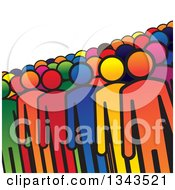 Clipart Of A Teamwork Unity Crowd Of Colorful People Royalty Free Vector Illustration by ColorMagic