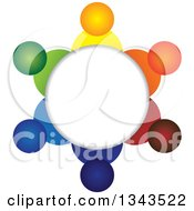 Clipart Of A Teamwork Unity Circle Of Colorful People 20 Royalty Free Vector Illustration