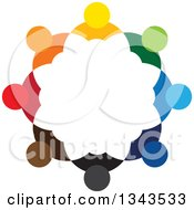 Clipart Of A Teamwork Unity Circle Of Colorful People 69 Royalty Free Vector Illustration