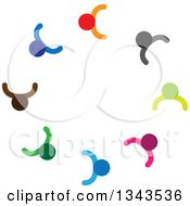Clipart Of A Teamwork Unity Circle Of Colorful People 71 Royalty Free Vector Illustration
