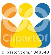 Clipart Of A Teamwork Unity Group Of Colorful People 5 Royalty Free Vector Illustration