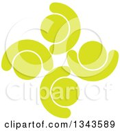 Clipart Of A Teamwork Unity Circle Of Light Green People Cheering Or Dancing Royalty Free Vector Illustration