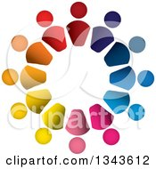 Clipart Of A Teamwork Unity Circle Of Colorful People 49 Royalty Free Vector Illustration