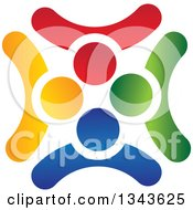 Clipart Of A Teamwork Unity Circle Of Colorful People 26 Royalty Free Vector Illustration