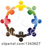 Clipart Of A Teamwork Unity Circle Of Colorful People 28 Royalty Free Vector Illustration