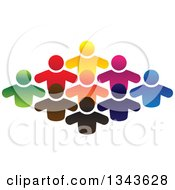 Clipart Of A Teamwork Unity Group Of Colorful People 3 Royalty Free Vector Illustration