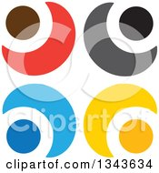 Clipart Of A Teamwork Unity Circle Of Colorful People Cheering Or Dancing 16 Royalty Free Vector Illustration