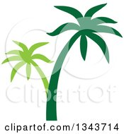Clipart Of A Two Toned Palm Tree Silhouette Royalty Free Vector Illustration by ColorMagic