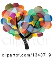 Clipart Of A Tree With A Colorful Speech Balloon Canopy Royalty Free Vector Illustration by ColorMagic