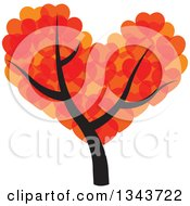 Clipart Of A Tree With A Canopy Of Hearts Royalty Free Vector Illustration